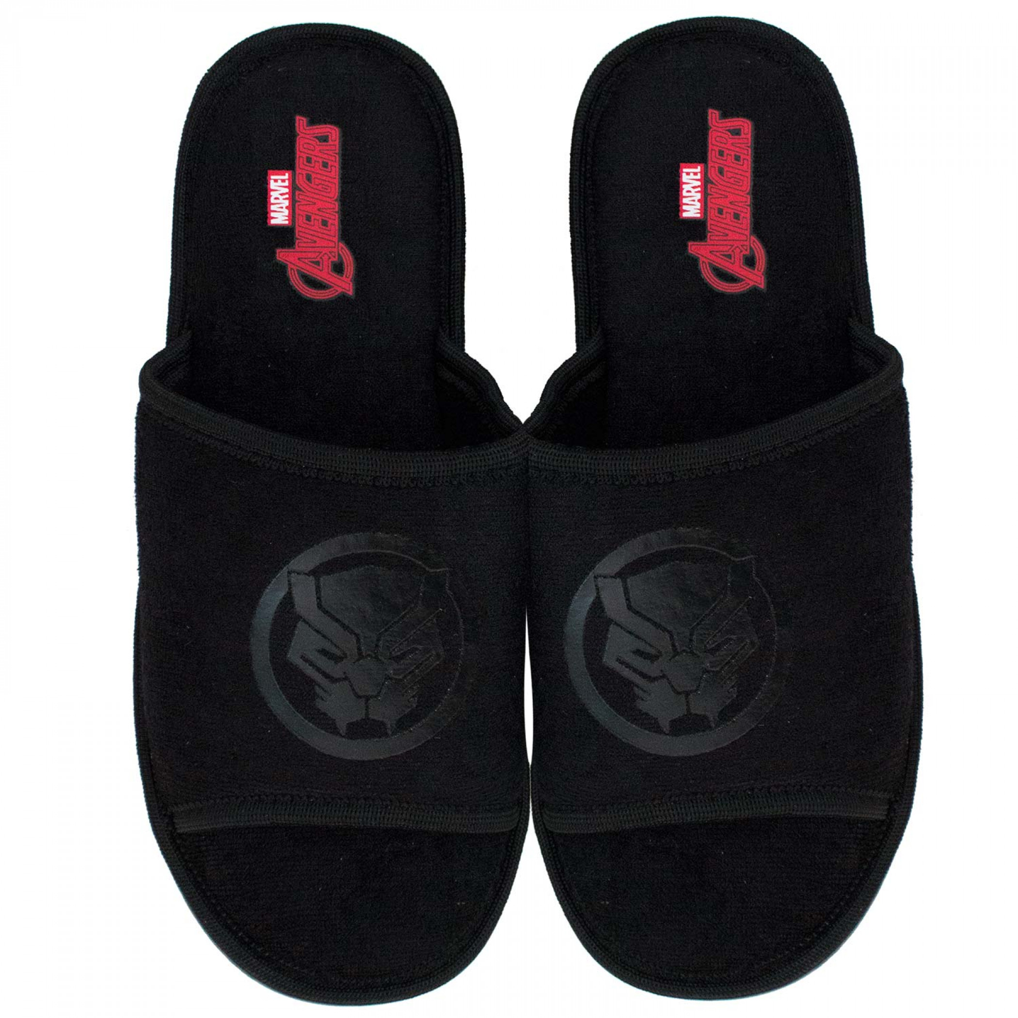 Black Panther Soccer Slides Black On Black Sandals